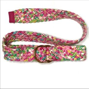 Lilly Pulitzer Woven Cotton Print D-Ring Belt
